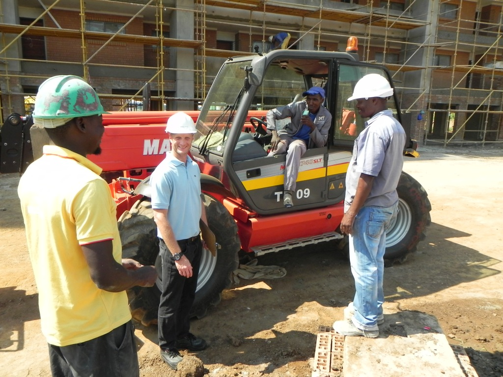 Our Operations Manager In Action At A Site Visit